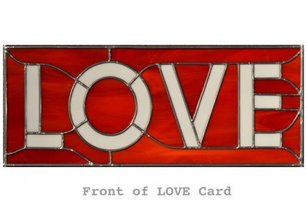 LOVE Stained Glass Card (front)